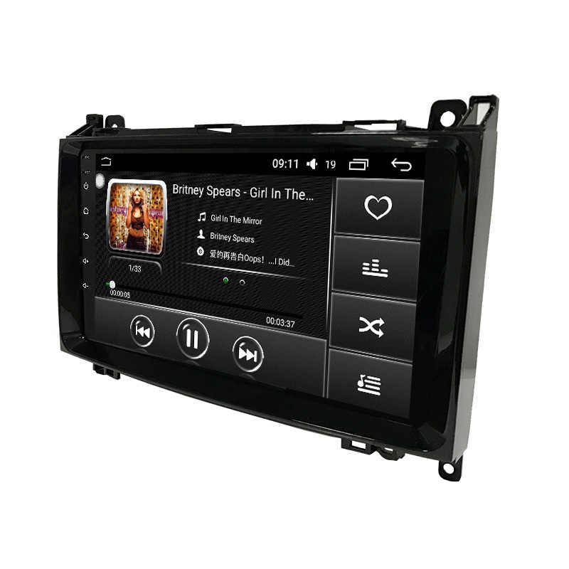 Funrover Автомобильный мультимедийный dvd-плеер gps Android 8,0 2Din для Mercedes Benz/Sprinter/W209/W169/виано/Вито/B200 4 ядра авто