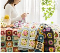 Handmade knitting braided blanket material package tutorial unfinished product
