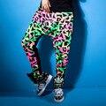 Новая мода тонкий Гарем Хип-Хоп Танцевальная Брюки Panelled Сращены Штаны Карманы Костюмы печати лоскутное женские брюки