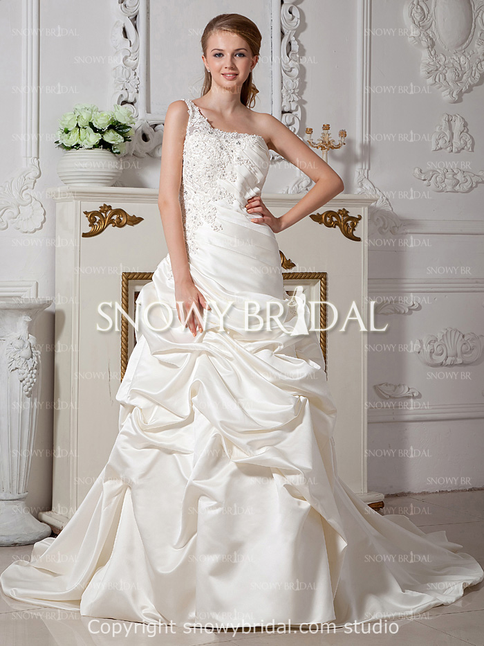 Free shipping ivory beaded taffeta wedding dress cheap for Wedding dress for sale cheap