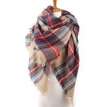 Winter Scarf 2016 font b Tartan b font Scarf Women Plaid Cashmere Oversized Blanket Scarf Wrap