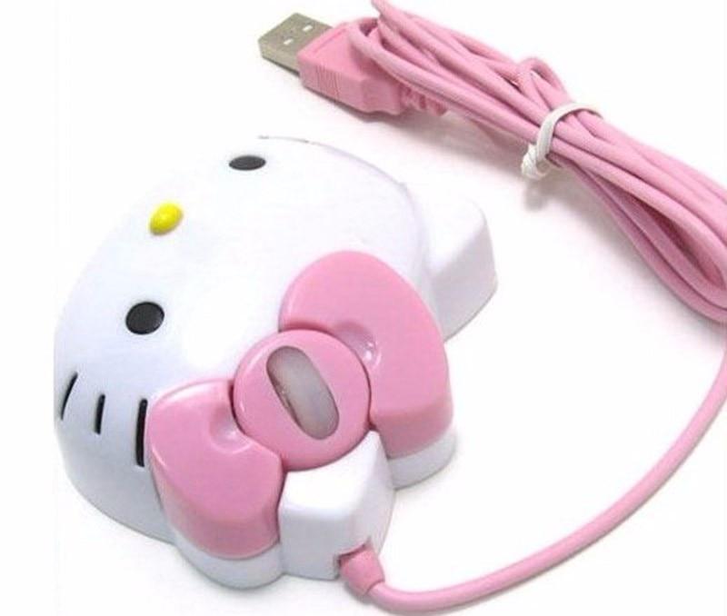 Kawaii Hello Kitty Wired Mouse USB 3