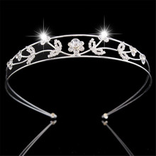 do dower Europe and United States Trade Jewelry High-end Bridal Headdress Silver Plated Cystal Crown Hair Jewelry FN -G015