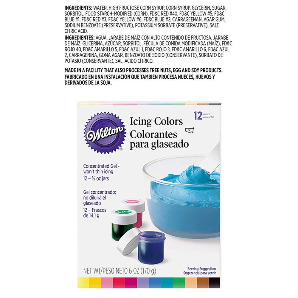 BEST SALE) Wilton Icing Color Set 12 Jars Food Coloring For ...