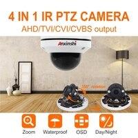 waterproof Security 5MP MINI AHD Dome PTZ Camera Coaxial HD 4in1 AHD Camera Pan Tilt IR 20M 2.8 8MM 3X Optical Z CCTV Camera