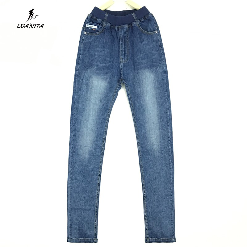 998ddb68534 High Quality 2018 New Kids Boys Simple Style Elastic Waist Soft Denim Jeans  Pants For Boys