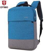 DTBG Szkoły Plecak dla Chłopców Dziewcząt Laptopa Plecaki 15.6 Cal dla Apple Macbook Niebieski Komputera Nylonowy Plecak Szkolny Torba Podróżna