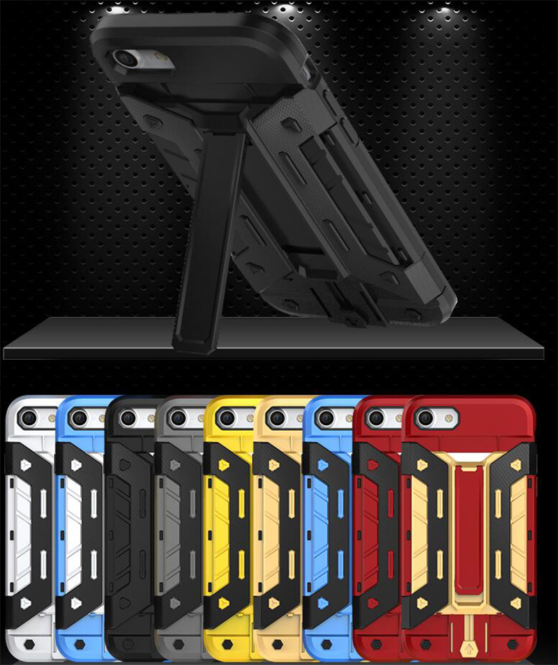 For iphone 6 Case Card Holder Backhybrid Shockproof Armor Case Kickstand Cover Case For Apple iphone 8 Plus 7 Plus Stand Holder