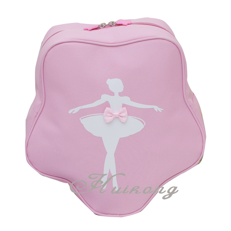 five-pointed star pink cute ballet bags with ballerina printing girls children dancing bags kids ballet dance BackpackDT005