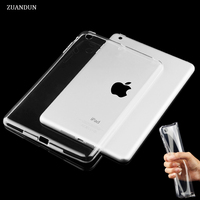 For IPad 2017 Case Air 1 Air 2 Shockproof Clear Soft Silicone TPU Case Cover For