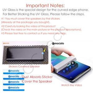 Image 2 - Pour Oneplus 7 Pro protecteur décran Mocolo 7T Pro verre trempé UV incurvé entièrement collé liquide pour OnePlus 8 Pro protecteur décran