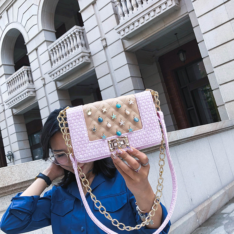 Fashion Women Messenger Bag New Brand Leather Female Shoulder Bag Luxury Diamond Little Bee Woman Handbags Strap Bags