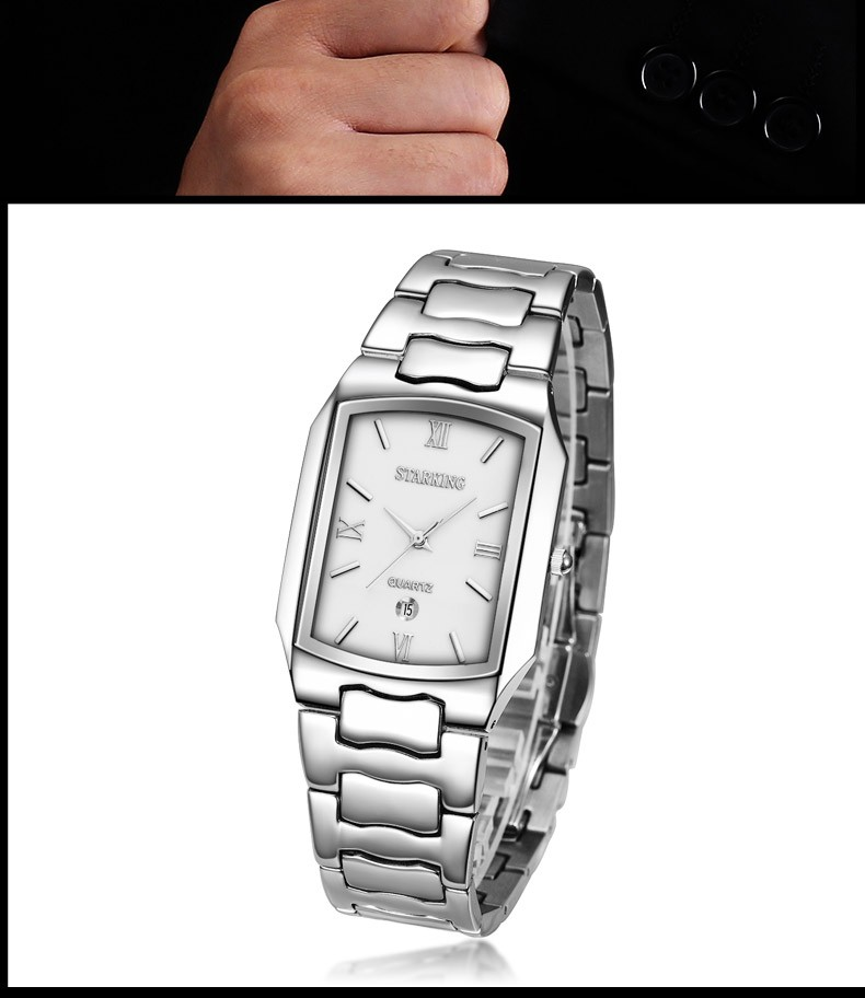 Topdudes.com - Casual Fashion Japanese Movement Stainless Steel Quartz Watches