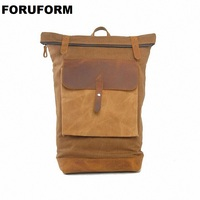 201 Vintage Pretty Style Casual Canvas Backpack Women Men 15 Inch Laptop Backpack Rucksack LI 1261