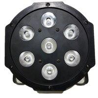 7X12W 7x18W 7x15W LED RGBWA UV rgbw 4in1 5in1 6in1 LED DJ DMX Wash Light Stage Uplighting Flat SlimPar Quad Light No Noise