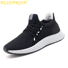 2019 Spring Athletic Sneakers For Men Breathable Air Mesh Sport Shoes Outdoor Super Light Running Shoes White Black Sock Shoe