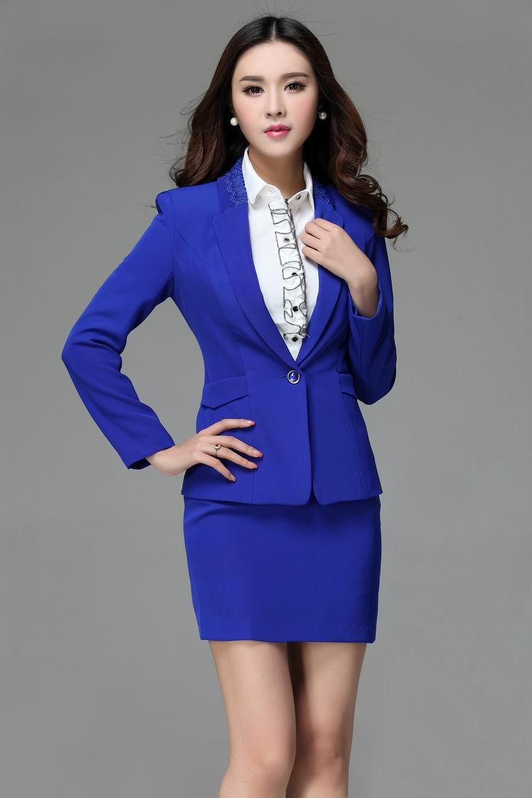 Blue Work Skirt - Skirts