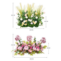 DIY Wedding Background Decoration Artificial Silk Rose Row Fake Flowers Party Events Opening Studio Props Dress Up Flower
