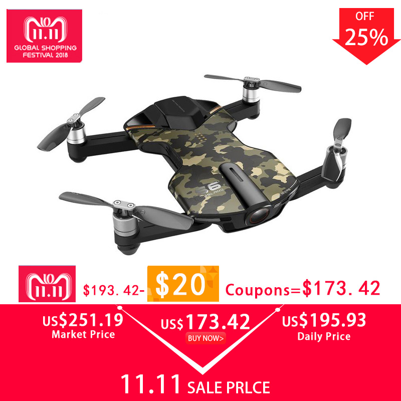 Wingsland S6 Mini Drone 4k Camera Drone Quadcopter with Camera WiFi Pocket Selfie Drone FPV With 4K UHD Camera VS DJI Spark wingsland s6 gps wi fi app control 4k uhd camera foldable arm pocket selfie drone wifi fpv rc quadcopter w remote control