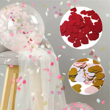 Baby Shower Birthday Decoration Round 100pcs pack Paper Confetti 3cm Star Cake Topper Heart Party Supplies