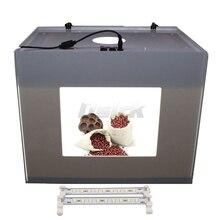 Ashanks коробка с освещением 3 шт. светодиодных ламп и Портативный световой короб для Камара fotografica освещения MK50 D50 фотографии свет палатка
