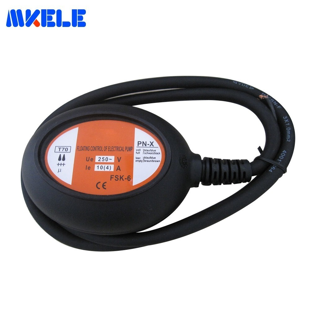 Cable Float Switches MK-CFS05 Fluid Level Controller AC 250V 4 Meter Black Cable Water Pump Float Switch From Makerele