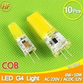 10pcs COB G4 Bulb LED 6W 10W 220V ACDC12V LED lamp Crystal LED Light Bulb Lampadine Lampara Bombillas Ampoule LED G4 12V 220V AC