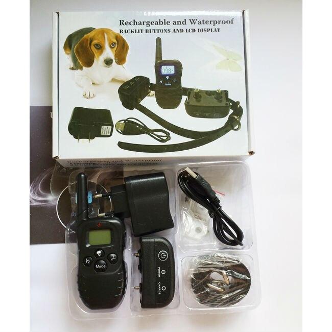 H188 어두운 방수 원격 전기 충격 애완 동물 강아지 훈련 고리 1 개에 대 한 충전식 광선