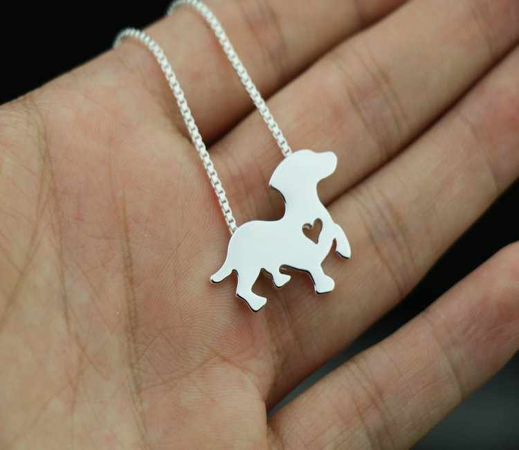dachshund necklace dog pendant animal jewelry for birthday gift