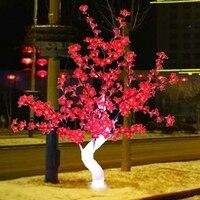 Libérez le bateau 4ft 1.2 M LED De Noël Nouvelle année partie vacances LED Lumière Cristal Cherry Blossom Arbre ROUGE Couleur étanche Home décor