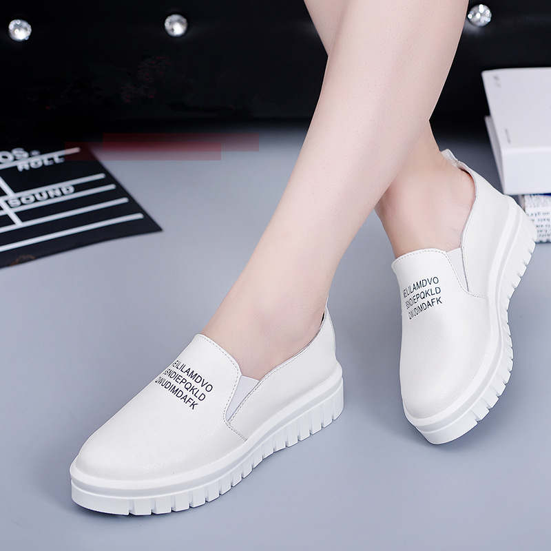 spring/summer woman shoes 2018 new fashion genuine leather flats shoes casual  tenis feminino sneakers flat platform women shoe tesilixiezi new spring summer fashion candy color bling flats platform shoes wegde breathable women casual shoes footwear
