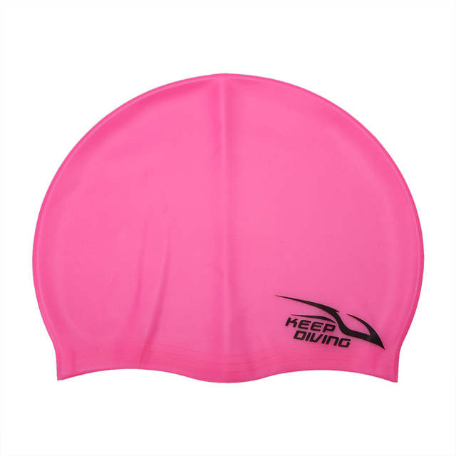 118ff71f232 KEEP DIVING Flexible Silicone Swimming Cap Waterproof Ear Protection Swimwear  Bathing Cap Swimming Cap Hat For