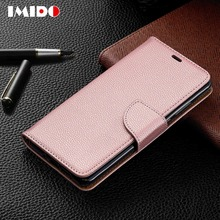 IMIDO Flip Leather Phone Case For Huawei P30 P20 Pro Lite P Smart Wallet Card Stand Holder Back Cover Y5 Y6 Y7 2019