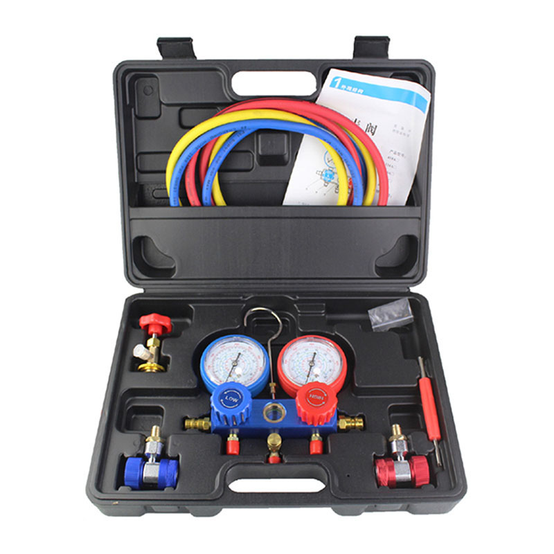Household Refrigeration Air Conditioning Manifold Gauge Maintenence Tools Car Set With Carrying Case forR410A R22 R134a