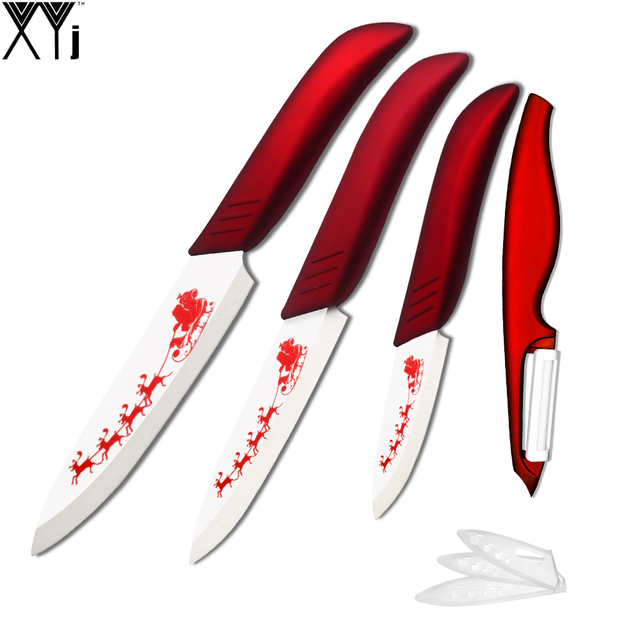 Xyj Brand Home Cooking Tools Unusual Christmas Gifts Eco Friendly Ceramic Knife Set 3