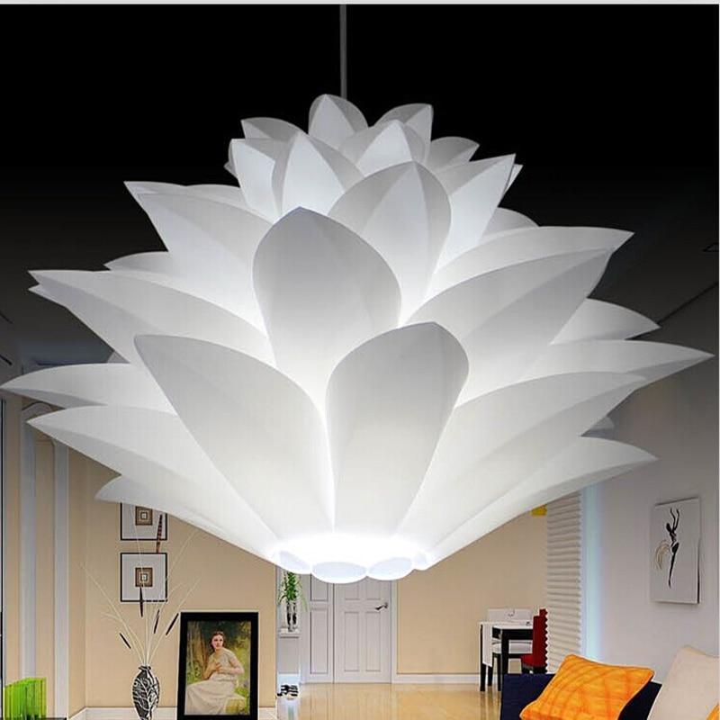 Lowest price on sale DIY Modern pinecone Pendant light creative lily lotus novel led e27 35/45/55cm iq puzzle lamp white
