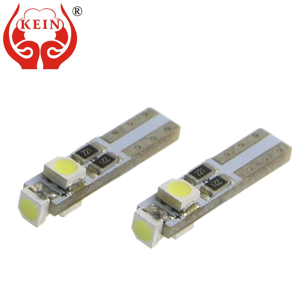 kein 10pcs t5 w3w car wedge led lamp 3528 3smd auto bulb dashboard warning indicator instrument lights vehicle 12v red white