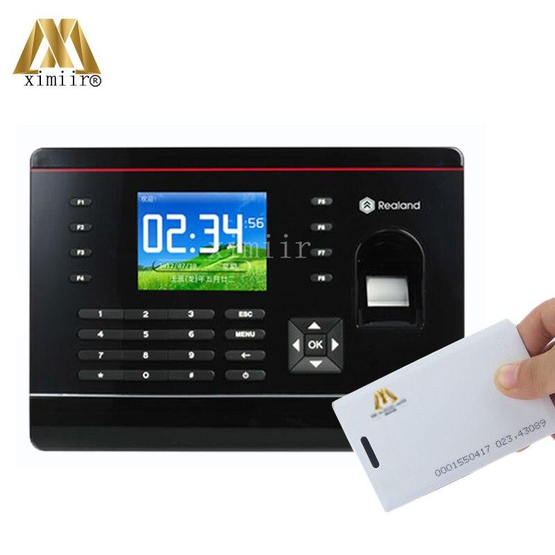 A-C061 2000 Fingerprint Templates USB,TCP/IP Fingerprint & Password & RFID (Proximity) Card Time Attendance Time Clock Recorder