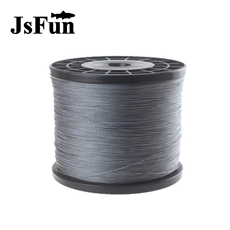 JSFUN 300M 4 Strands Braided fishing line Multifilament fishing line 0.4#-8.0# Tenkara PE Line 10LB 20LB 30LB 100LB 9 Color FL10