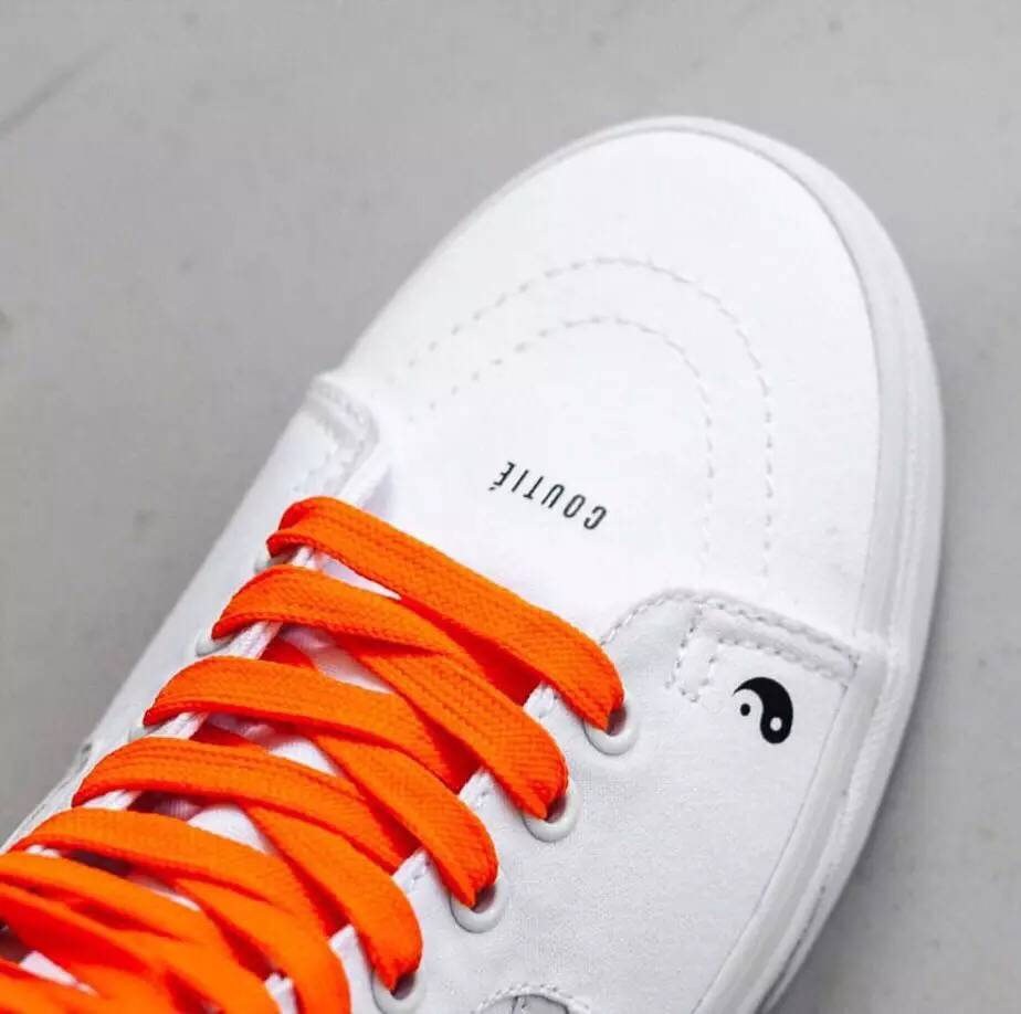 e1f5b7186bf8de Vans Coutie Sk8 Hi Classic Men and Womens Street dance rap white orange  canvas shoes High Weight lifting shoes Eur36 44-in Weightlifting Shoes from  Sports ...