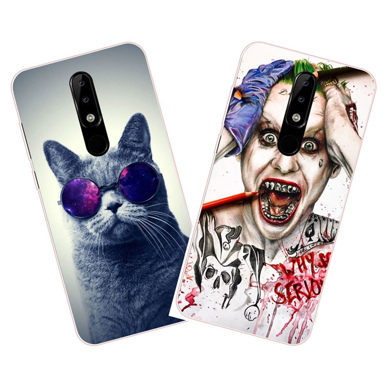 For nokia x5 2018 Case,Silicon Super cool cartoon Painting Soft TPU Back Cover for nokia 5.1 plus protect cases shell