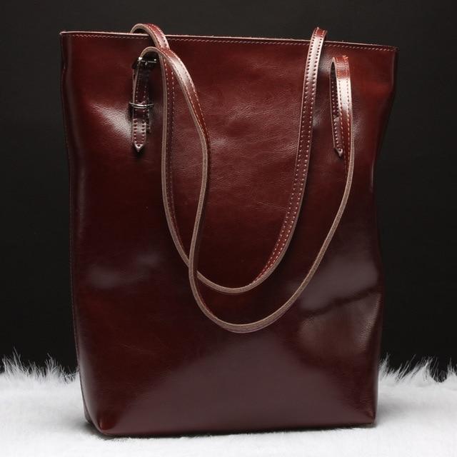 5406ea98358f SUNNY SHOP Luxury Genuine Leather Women Messenger Bags Real Leather Women  Shoulder Bags Brand Designer Handbags High Quality