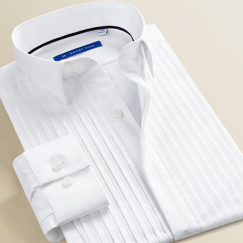 Camisas blancas formales de algodón de marca Smart Five para hombres de manga larga 2018 camisas de vestir para hombres de alta calidad los hombres-in Camisas de vestir from Ropa de hombre    1