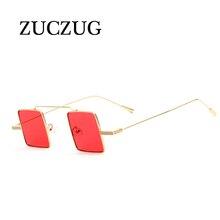 ZUCZUG Vintage Steampunk Sunglasses Women Men Small Square Sun Glasses Ladies Clear Red Blue Lense Mirror Goggle Punk Eyewear