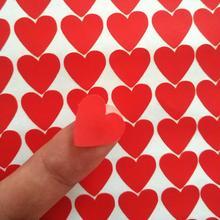60 шт маленькие красные в форме сердца упаковочные наклейки, свадебные подарочные этикетки