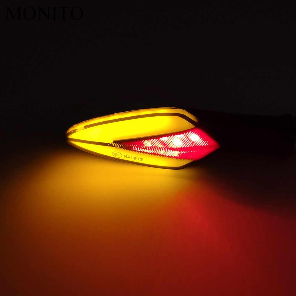 Lampu Sinyal Belok Sepeda Motor Indikator LED Ekor Flashers Kuning/Merah Lampu untuk Yamaha Mt07 Mt09 Fz07 Fz09 MT/ FZ 07 09 MT10 XSR 700
