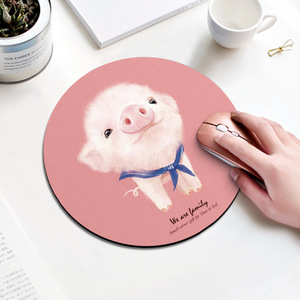 Image 3 - Beautiful Computer Mouse Padding Rubber thickening Cartoon round animal Penguin mouse pad 20CM for MacBook xiaomi Lenovo