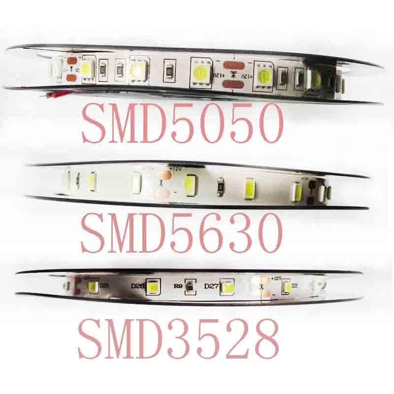 12V Led Strip 5M RGB LED Strip Light Flexible  High Quality  3528 5050 5630 Warm Cool White RGB 300 Led SMD Not /waterprooft