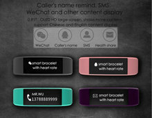 Fashional браслет пульсометр умный Браслет Bluetooth 4.0 поддержки системы Android IOS PK Xiaomi Mi band 2