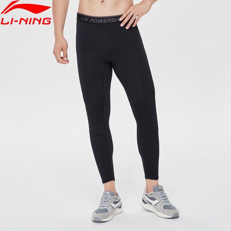 Li-Ning Men Training Base Layer Pants AT DRY Comfort 88%Polyester 12%Spandex Li Ning LiNing Sports Tights AULP023 MKY501